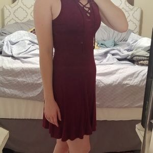 Small franchescas deep cherry red dress